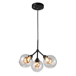 Wrought Studio Macdougal 3-Light Sputnik Chandelier