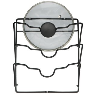 Square Lid Wall Mounted Pot Rack by Evelots