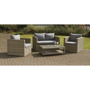 Swindon 4 Seater Rattan Sofa Set By Sol 72 Outdoor