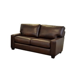 Kenmore Studio Leather Loveseat by Westland and Birch New