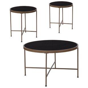 Wrought Studio Breuer 3 Piece Coffee Table Set