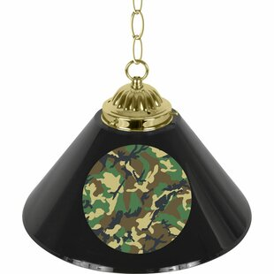 Hunt Camo 1-Light Pool Table Lights Pendant by Trademark Global