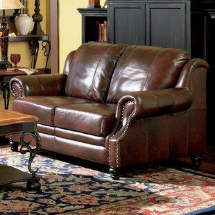 Affordable Rosetta Leather Loveseat by Darby Home Co Reviews (2019) & Buyer's Guide