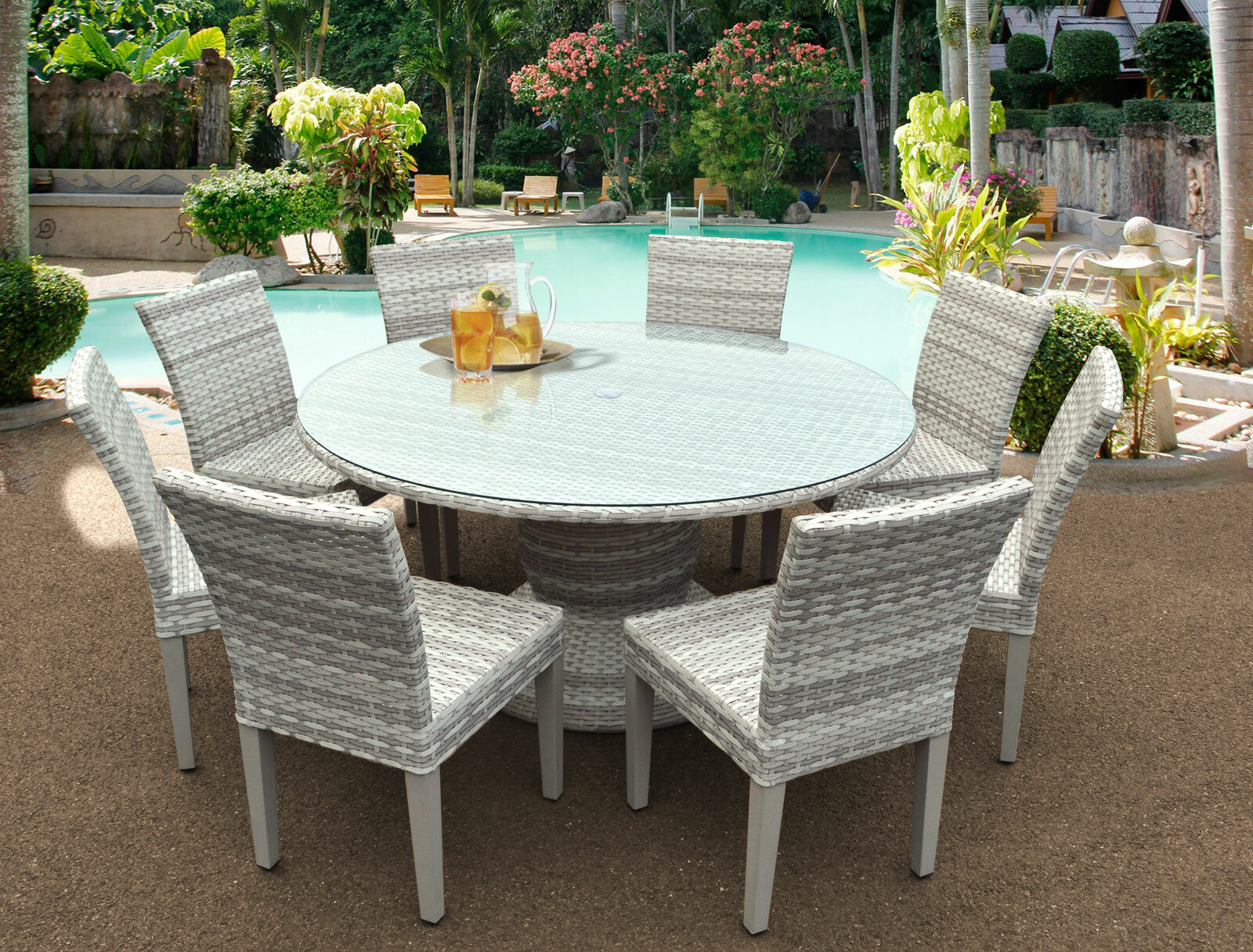 Rosecliff Heights Ansonia 9 Piece Outdoor Dining Set Reviews Wayfair
