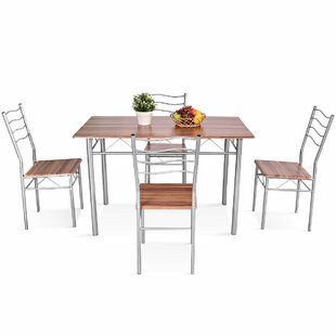 Miskell 5 Piece Dining Set by Winston Porter