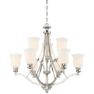 Darby Home Co Ameche 9-Light Shaded Chandelier