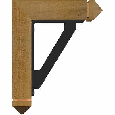 3 12W x 11 12D x 14H 2 Thick Triple Brace Arts and Crafts Ironcrest Ekena Millwork Color Douglas Fir Wood Finish Rough Sawn Size 14 H x