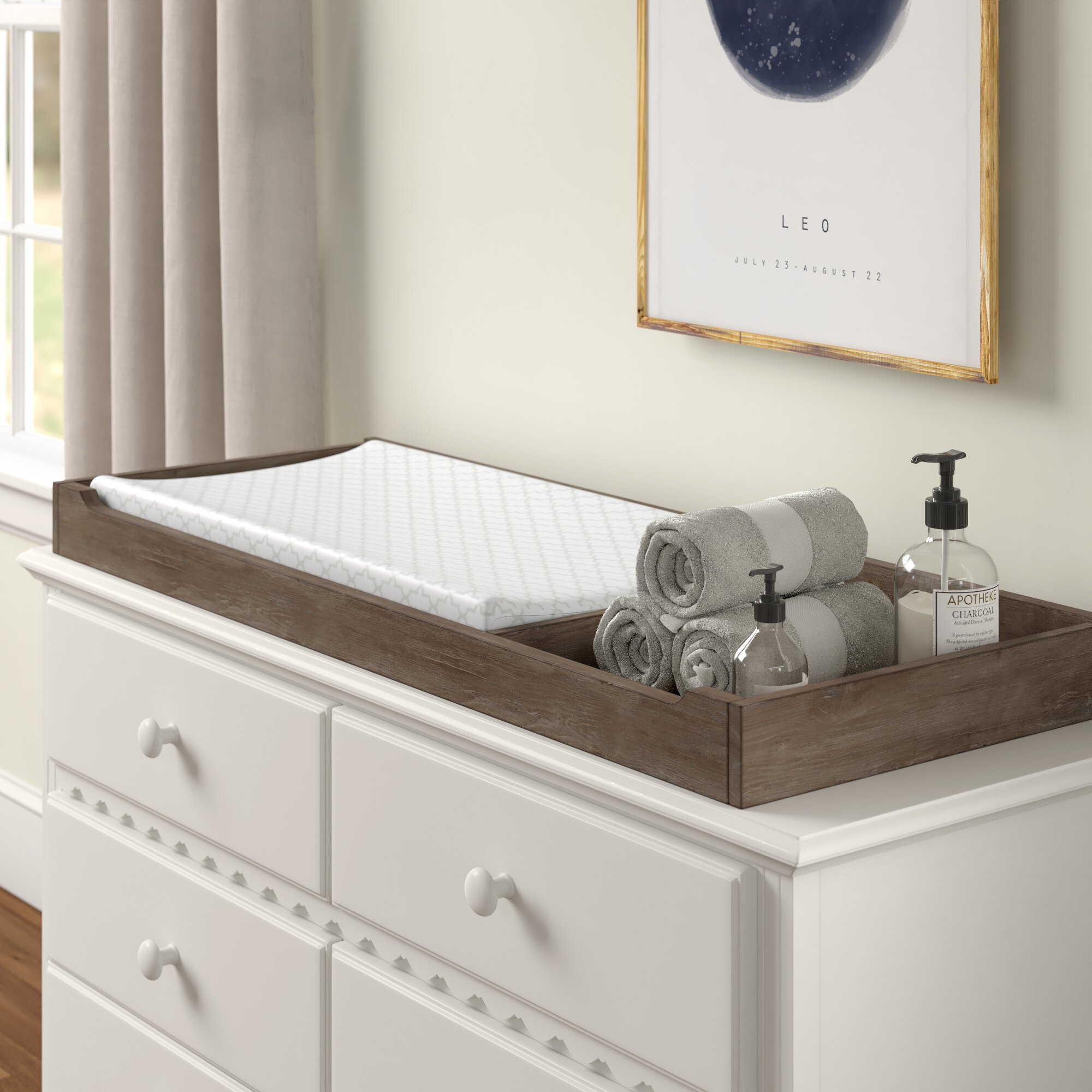 Image of: Three Posts Baby Kids North Andover Changing Table Topper Wayfair