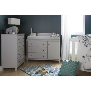 Cotton Candy Changing Table and 4 Drawers Chest