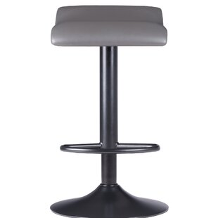 Fleetwood Air Lift Adjustable Height Bar Stool (Set of 2) by Orren Ellis