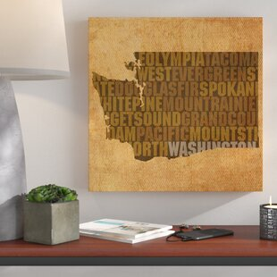 U0027Washington State Wordsu0027 Textual Art On Wrapped Canvas