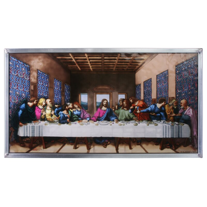 The Last Supper Wall Art design toscano the last supper art glass wall décor | wayfair