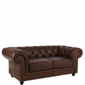 Sofa Old England aus Echtleder von Butlers