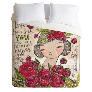 East Urban Home Sweet Girl Duvet Cover Set