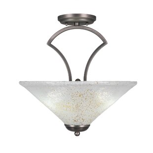 Couto 3-Light Semi-Flush Mount..