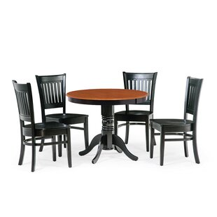 Reichert 5 Piece Solid Wood Dining Set by Charlton Home Sale