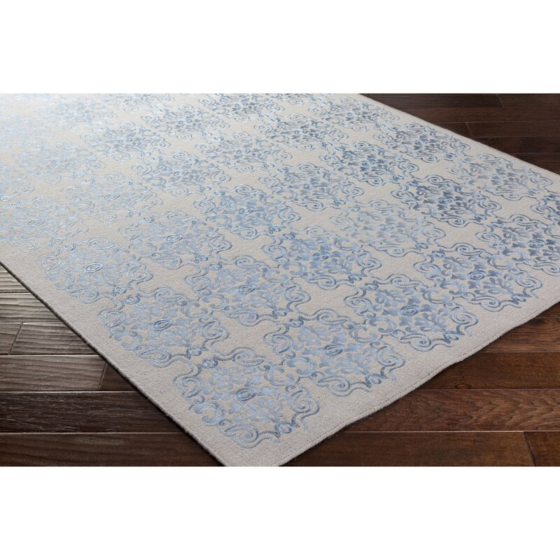 Astoria Grand Milana Geometric Handmade Flatweave Blue Area Rug Wayfair