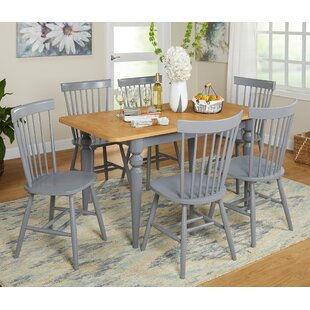 Laurier 7 Piece Solid Wood Dining Set by Gracie Oaks