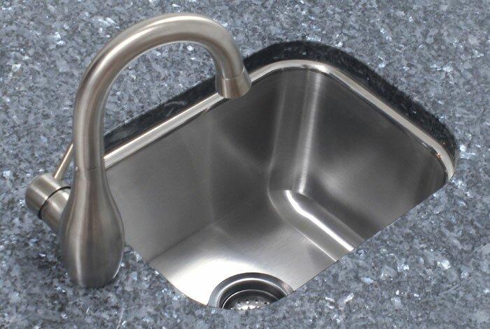 """A-Line by Advance Tabco 12.5"""" L x 16.5"""" W Single Bowl Undermount Prep Kitchen Sink"""