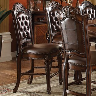 Welles Counter Height Upholstered Dining Chair (Set of 2) Astoria Grand