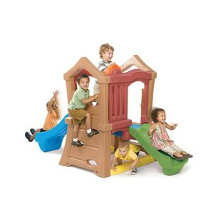Play Up Double Slide Climber By Constructive Playthings