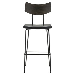 Landau Leather Upholstery Bar Stool by Union Rustic