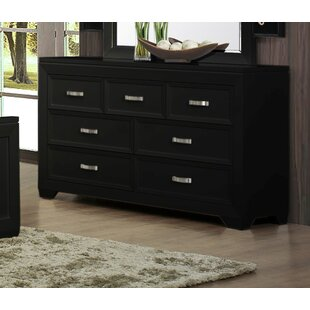 Affordable Ellington Circle 7 Drawer Double Dresser by Red Barrel Studio