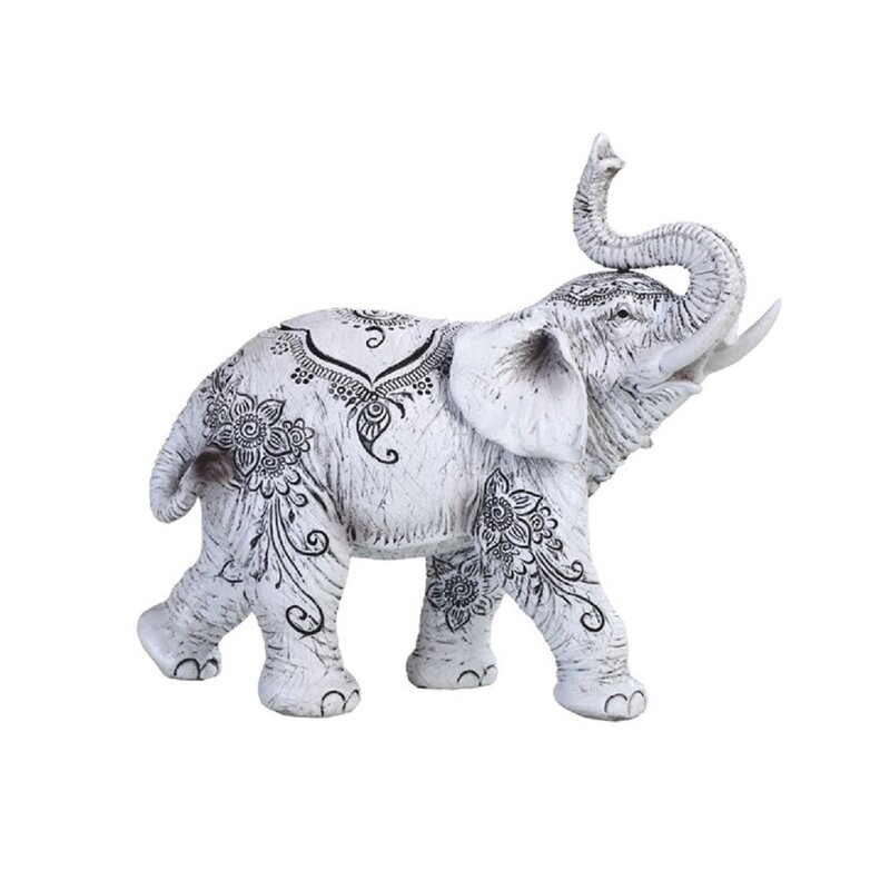Bloomsbury Market Arvyda Elephant With Tattoo Figurine Wayfair