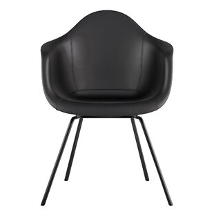 Classroom Genuine Leather Upholstered Dining Chair by NyeKoncept