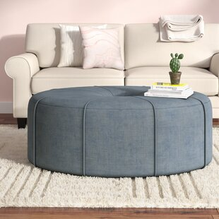 Telly Oval Tufted Cocktail Ottoman by Latitude Run