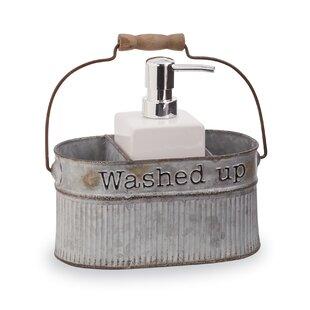 Galvanized Tin Farmhouse Soap Pump 2 Piece Bathroom Accessory Set by Mud Pie?