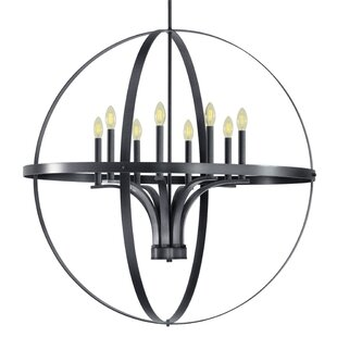 Gracie Oaks Aleria 8-Light Globe Chandelier