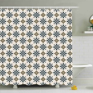 Traditional House Retro Boho Welsh Pears with Persian Pickles Motif Artsy Home Decor Shower Curtain Set