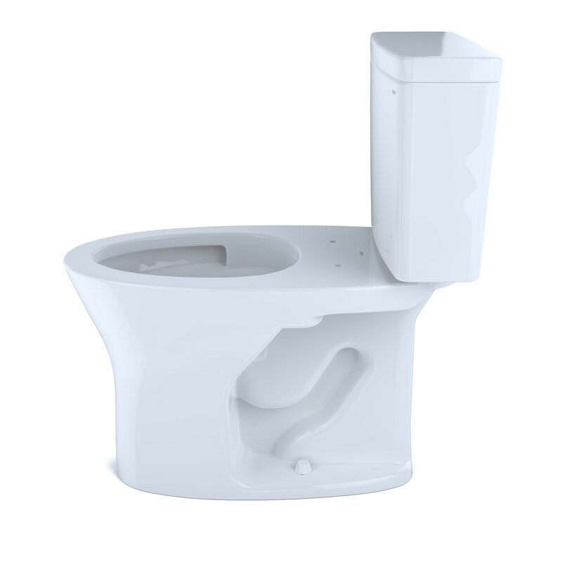 Toto Drake Two Piece Elongated Dual Flush 1 6 And 0 8 Gpf Universal Height Dynamax Tornado Flush Toilet With Cefiontet With Wax Ring And Toilet Mounting Bolts Seat Not Included Perigold
