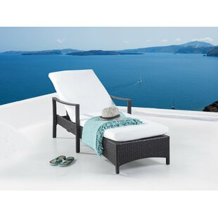 Reclining Sun Lounger With Cushion Image