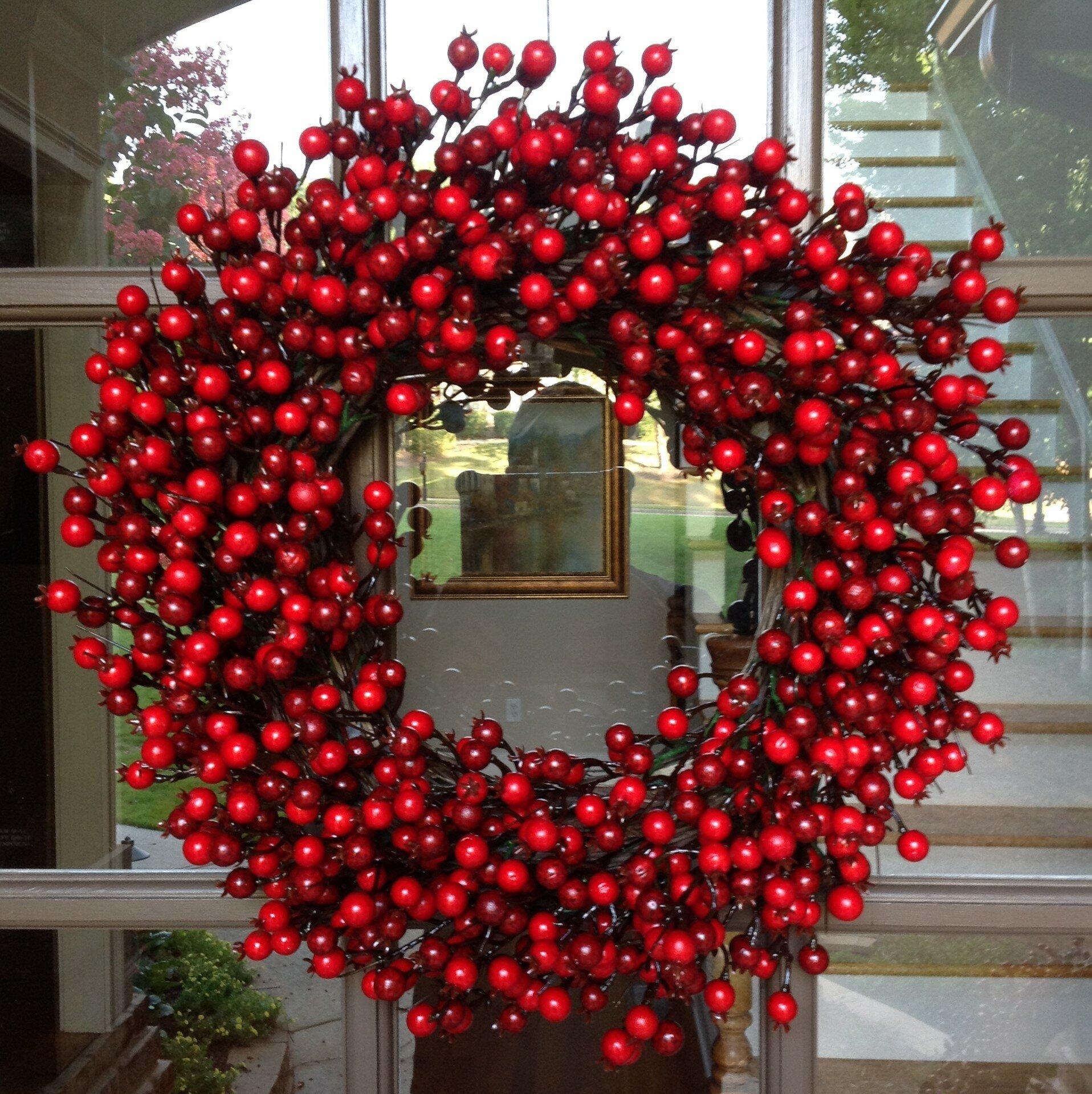 Christmas Red Glitter Poinsettia Picks Decoration Tree