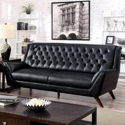 Lofgren Bonded Leather Sofa