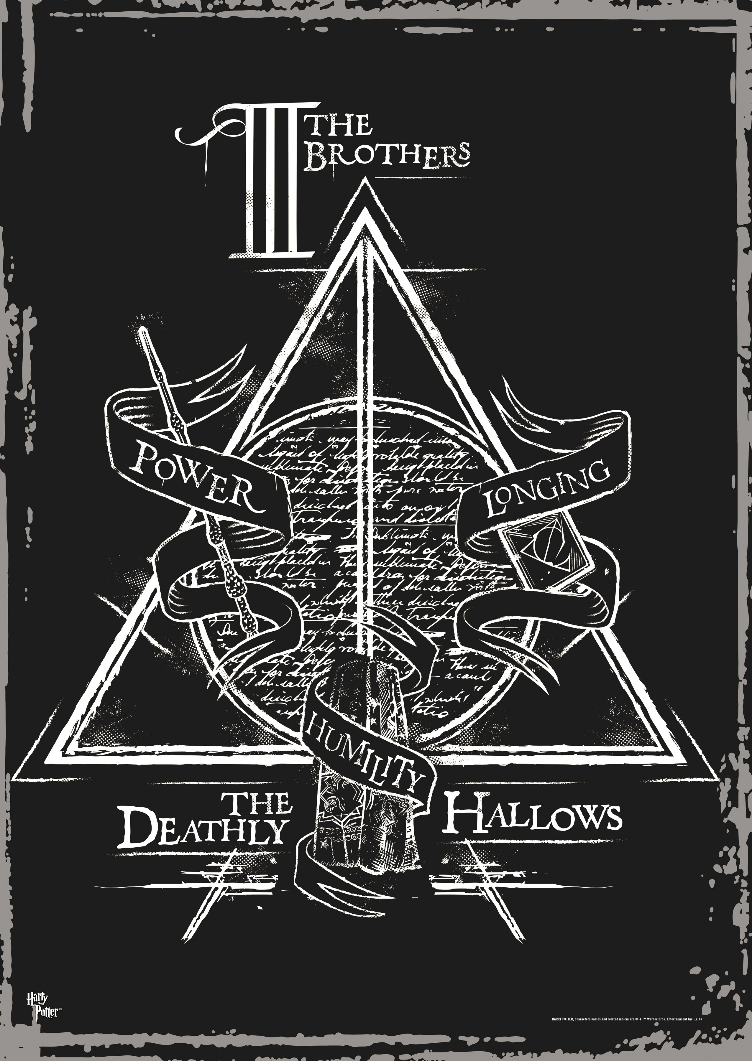 Mightyprint harry potter deathly hallows the brothers graphic mightyprint harry potter deathly hallows the brothers graphic art reviews wayfair biocorpaavc