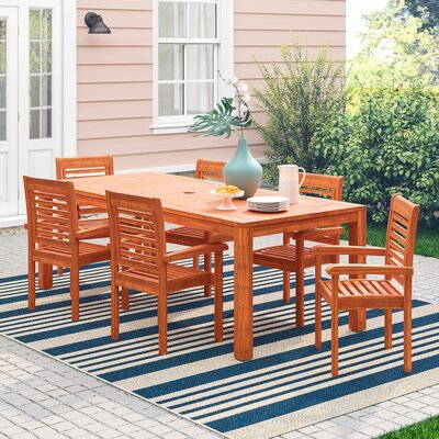 Elsmere 7 Piece Dining Set by Beachcrest Home Best Design
