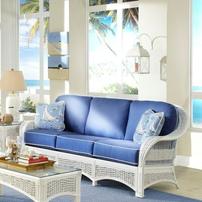 Regatta Sofa Spice Islands Wicker Upholstery: Sumerset Mist