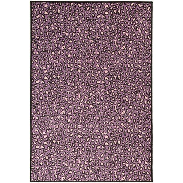 Leopard Print Area Rug Part - 26: Ottomanson Pink Purple Animal Print Leopard Area Rug U0026 Reviews | Wayfair