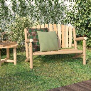 Loon Peak Hooper Settee Wood Garden Bench