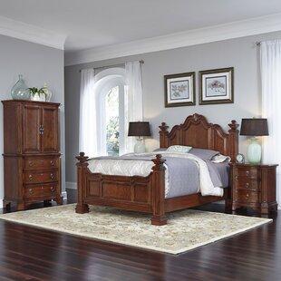 Home Styles Santiago Platform 4 Piece Bedroom Set