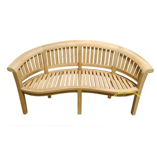 Island Teak Wood Garden Bench