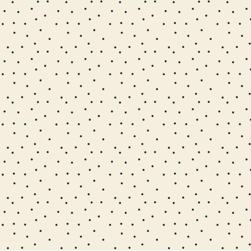 Black And White 33 X 205 Polka Dot Wallpaper