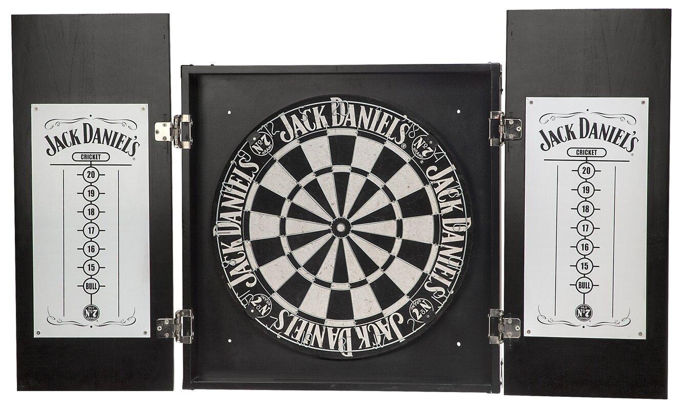 Jack Daniel's Lifestyle Products 7 Piece Dartboard Cabinet Set ...