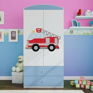 Kocot Kids Anpassbares Schlafzimmer-Set Fire Engine mit Stauraum ...