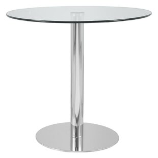 Hollowell Clear Round Kitchen Dining Table