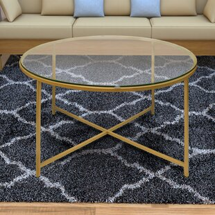 Dryer Round Metal Coffee Table with Tray Top by Mercer41