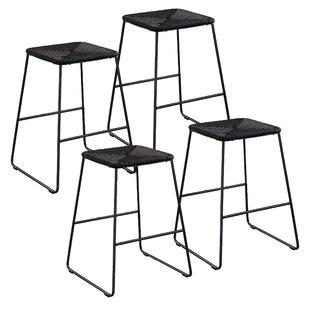 Nordquist Stackable 4 Piece 25 5 Patio Bar Stool Set
